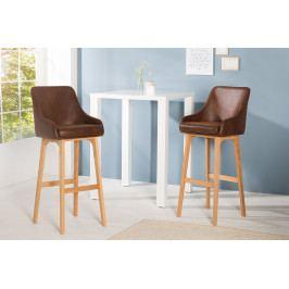 Bighome - Barová stolička SCANIA - antická hnedá