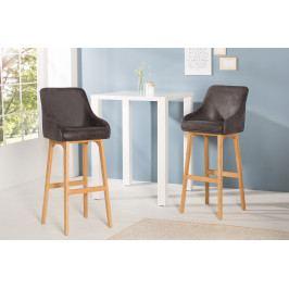 Bighome - Barová stolička SCANIA - antická sivá