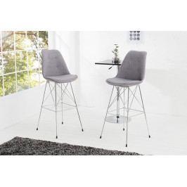 Bighome - Barová stolička SCANIA RETRO - svetlá sivá