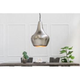 Bighome - Visiaca lampa MODERNA L - strieborná