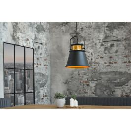 Bighome - Visiaca lampa LUSY II - čierna, zlatá