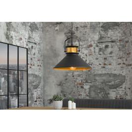 Bighome - Visiaca lampa LUSY III - čierna, zlatá