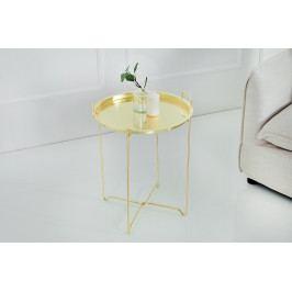Bighome - Príručný stolík MARRAK 45 cm - zlatá