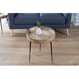 Bighome - Príručný stolík PUR 47 cm - prírodná
