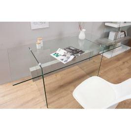 Bighome - Písací stôl ONOX 160 cm - priehľadná