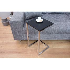 Bighome - Príručný stolík SIMPLE 60 cm - čierna, strieborná