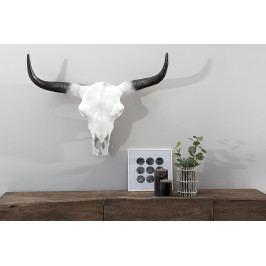 Bighome - Dekorácia lebka ROTO 70 cm - biela, čierna