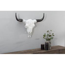 Bighome - Dekorácia lebka ROTO 50 cm - biela, čierna