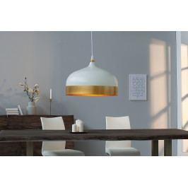 Bighome - Visiaca lampa MODERN CECH - biela, zlatá