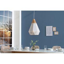 Bighome - Visiaca lampa SCANDINIA - biela, zlatá