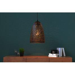Bighome - Visiaca lampa MOONLY I - čierna, medená
