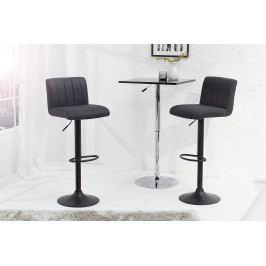Bighome - Barová stolička PORTER - vintage sivá, čierna