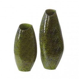 Bighome - Váza HAVANA 35 cm - zelená