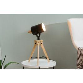 Bighome - Stolná lampa TRIPO 58-78 cm - čierna, prírodná