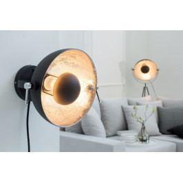 Bighome - Nástenná lampa STUDY - čierna, strieborná