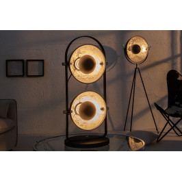 Bighome - Stolná lampa STUDY - čierna, strieborná