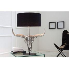 Bighome - Stolná lampa BYK 68 cm - strieborná, čierna