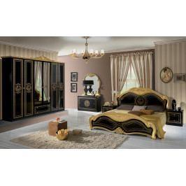 Bighome - Spálňa LAURI - čierna, zlatá