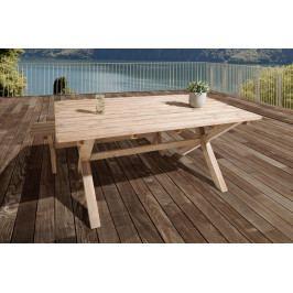 Bighome - Záhradný stôl RIVIERA 160 cm - prírodná