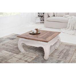Bighome - Konferenčný stolík LE FLEUR 50 cm - prírodná, biela