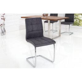 Bighome - Stolička MODERNA - čierna, sivá