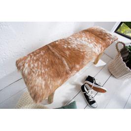 Bighome - Lavica DIHE 92 cm - hnedá, biela