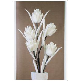 Bighome - Dekoratívny kvet PARSA - biela