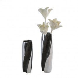 Bighome - Váza TESSA 32 cm - čierna