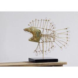 Bighome - DEKOR socha 50 cm, zlatá