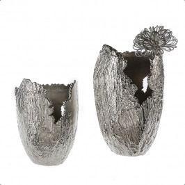 Bighome - Váza ANTIKA 40 cm - strieborná