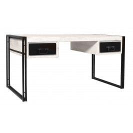 Bighome - Písací stôl PANAMA 150 cm - biela