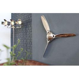 Bighome - Nástenná dekorácia AIRSCREW 90 cm - strieborná