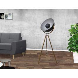 Bighome - Stojaca lampa STODY 166 cm - čierna, prírodná