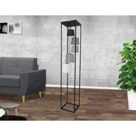 Bighome - Stojaca lampa LAVELS 180 cm - čierna
