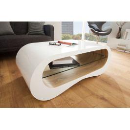 Bighome - Konferenčný stolík BROOKLYN 110 cm - biela