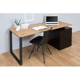 Bighome - Písací stôl COMPACT 160 cm - čierna