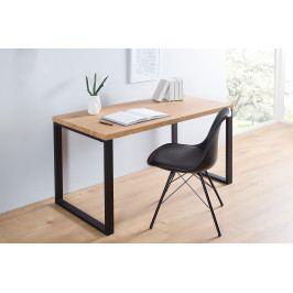 Bighome - Písací stôl DELA 128 cm - čierna, prírodná
