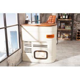 Bighome - Barový stolík CAR 80 cm orientované vľavo - viacfarebná, biela
