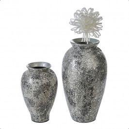 Bighome - Váza KASA 42 cm - strieborná