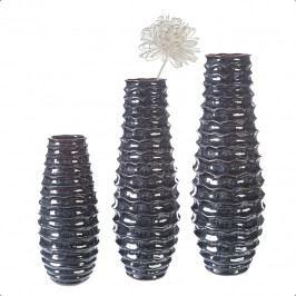 Bighome - Váza LANI 54 cm - čierna, modrá