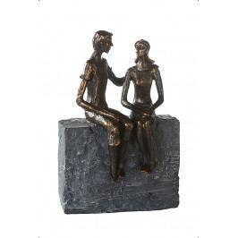 Bighome - Socha FRIENDSHIP 23 cm - bronzová