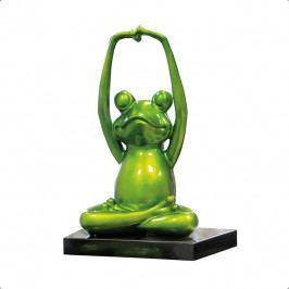 Bighome - Soška YOGA FROG 38 cm - zelená