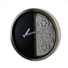 Bighome - Nástenné hodiny GOS 39 cm - čierna