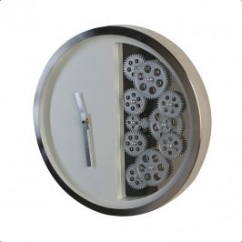 Bighome - Nástenné hodiny GOS 39 cm - biela