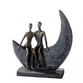 Bighome - Socha MOON 23,5 cm - bronzová