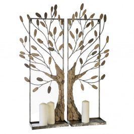 Bighome - Dekoratívny strom TRE 100cm - strieborná,prírodná
