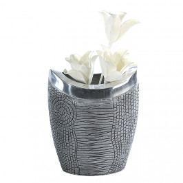 Bighome - Váza SIDER 29 cm - strieborná