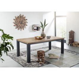 Bighome - TIROL Jedálenský stôl 240x100 cm, tmavohnedá, dub