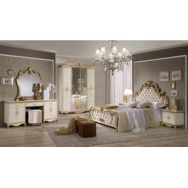 Bighome - Spálňa TATJONA - zlatá, krémová