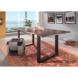 Bighome - METALL Jedálenský stôl s tmavošedými nohami 120x90, akácia, hnedá
